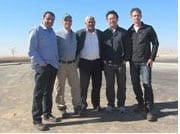 Dr. Muhammad al-Nabari, Avi Gafni, Shadi, Chunhui Lu, & Gregor Sanders at Wadi Atir. Photo: Tania Susskind