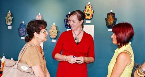 Marcia Pinskier, Jewish Care Board Member, Bronwen Taylor, Jewish Care Mental Health Team Leader and Sheryl Sacher, Group Facilitator.