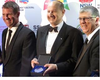 Premier Mike Baird, Jeremey Jones and Minishet John Ajaka