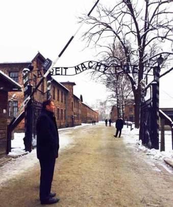 Josh Frydenberg at Auschwitz