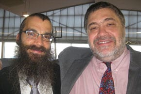 KTC Principal Rabbi Dr. Noteh Glogauer and Jon Medved