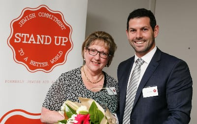 Kathy Kaplan and Stand Up's CEO Gary Samowitz