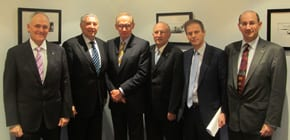 Bob Carr with Australian Jewish leaders Dr Danny