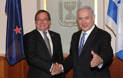 Foreign Ministe Murray McCully with Prime Minister Benyamin Netanyahu