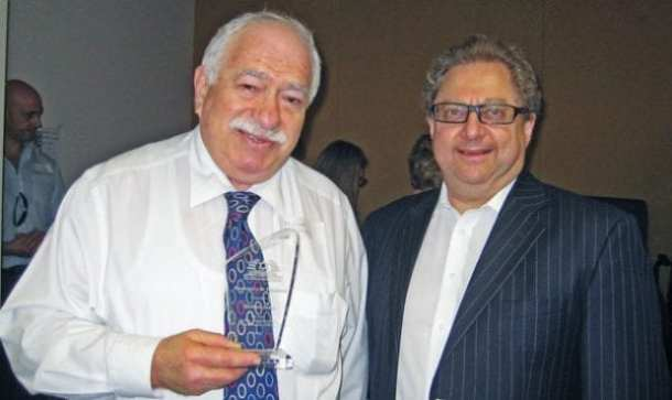 Michael Jassy  (l) with current BJE president  David Selig