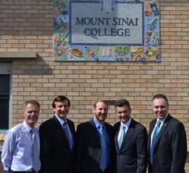 Principal Phil Roberts, Ron Hoenig MP, Rabbi Elie Farkas, Matt Thistlwaite, Guy Zangari MP