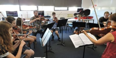 Mount Scopus students rehearse with ACO members