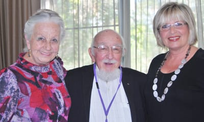 Olga Horak, Dr Joachim Schneeweiss and Esther Wakerman