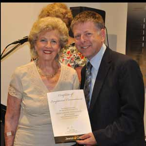 Ann Oystragh receives an award    Photo: Warren Hurst
