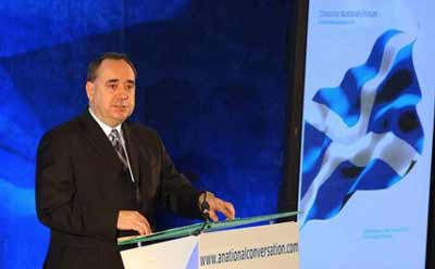 Scottish First Minister and nationalist leader and Alex Salmond (pictured) resigned after Scottish independence from the U.K. was rejected, 55-45 percent, in referendum results revealed Friday. Credit: Harris Morgan via Wikimedia Commons.