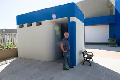 Bomb shelter at a school in Shar Hanegev   pic: Henry Benjamin