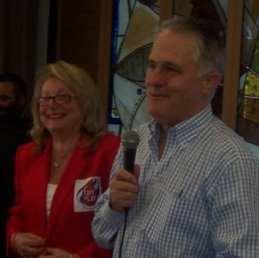 Shula Endrey-Walder with Malcolm Turnbull