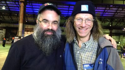 Rabbi Dovid Slavin with BK supporter and CEO slept participant Dr Jerry Schwartz