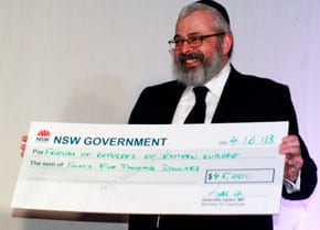Rabbi Yehoram Ulman and the $45,000 cheque