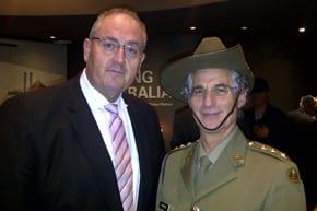 Walt Secord and army Chaplain Rabbi Jeffrey Kamins