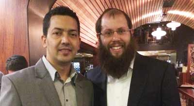 Rhaji Kanal and Rabbi Aaron Groner