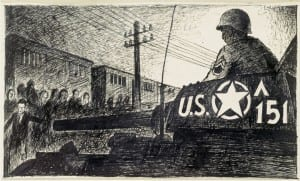 Hungarian artist Ervin Abadi was on the train and drew this image