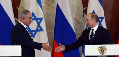 Israeli Prime Minister Benjamin Netanyahu holds a joint press conference with Russian President Vladimir Putin in Moscow, Russia on June 7. Credit: Haim Zach / GPO/Flash90.