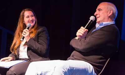 Michaela Kalowski and Roger Cohen       Photo: David Sokol
