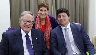 Montefiore president David Freeman, Hazel Stein and William Nemesh