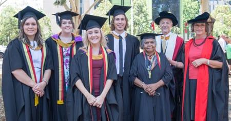 Shaltom's Dr Hilton Immerman with previous graduates