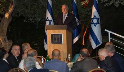 President Rivlin at the Ishtar meal  Photo: Amos Ben Gershom (GPO)