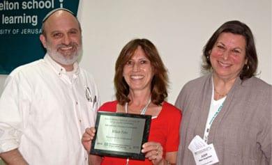 Rabbi Morey Schwartz, Jillian Fine and Melton CEO Judy Mars Kupchan