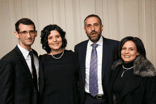 3.Tuvya Garfinkel and Natasha Katz, guest speaker and Enrolled Nurse at the Smorgon Family Nursing Home, with her parents Greg and Yael Katz.