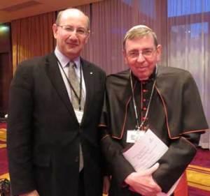 Jeremy Jones with Cardinal Kurt Koch