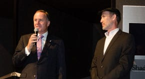 Prime Minister John Key and Perry Trotter