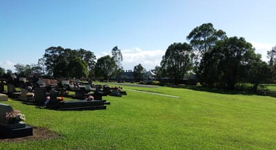 The cemetery in Kempsey