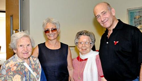 Este Maget, Aliza Olmert, Helen Mencel, Ehud Olmert pic: Henry Benjamin