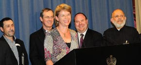 Minister Hodgkinson with Yair Miller 2nd from right