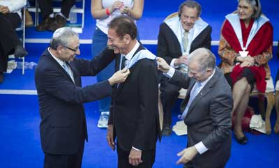 Stuart Silbert receives his doctorate