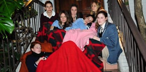 Practising for the sleep out