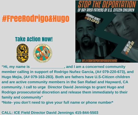 Call ICE Director David Jennings at 415-844-5503
