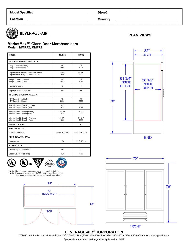 Beverage Air Freezer Wiring Diagram