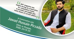 In Conversation with Jawad Hussain Pirzada 35th in Punjab, PMS 2019-20
