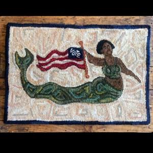 Vote, An American Hooked Rug