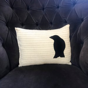 Boro Crow Pillow