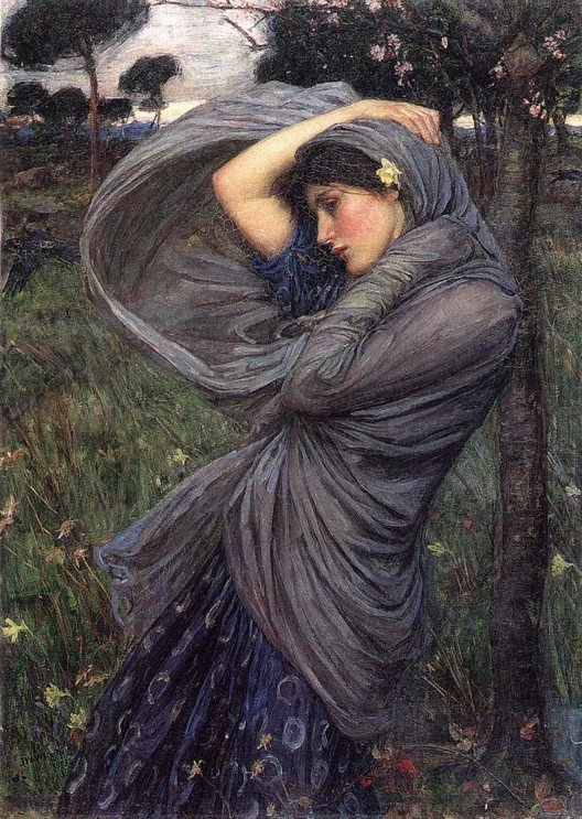 Boreas 1903 by John William Waterhouse