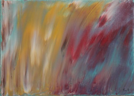 blurry abstract painting