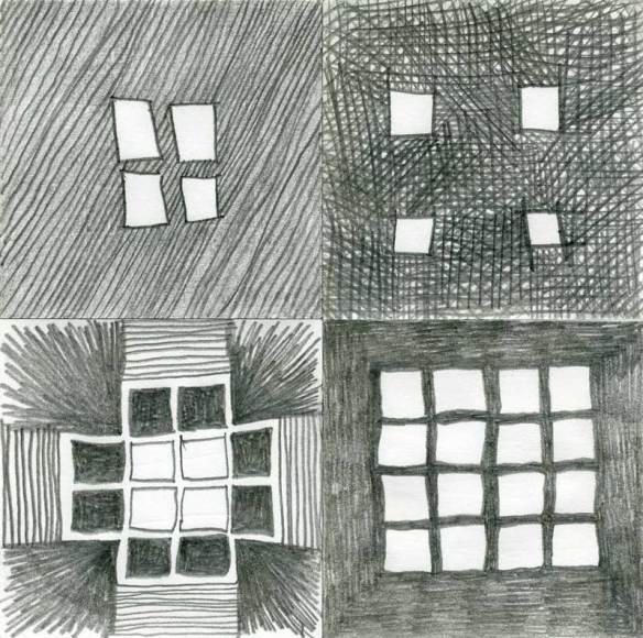 carrés noirs et blancs au crayon noir 2009-09-11