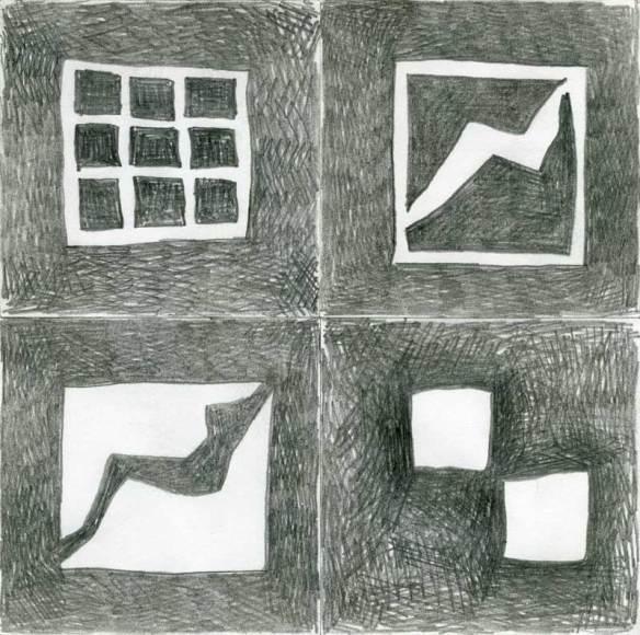 carrés noirs et blancs au crayon noir 2009-09-14