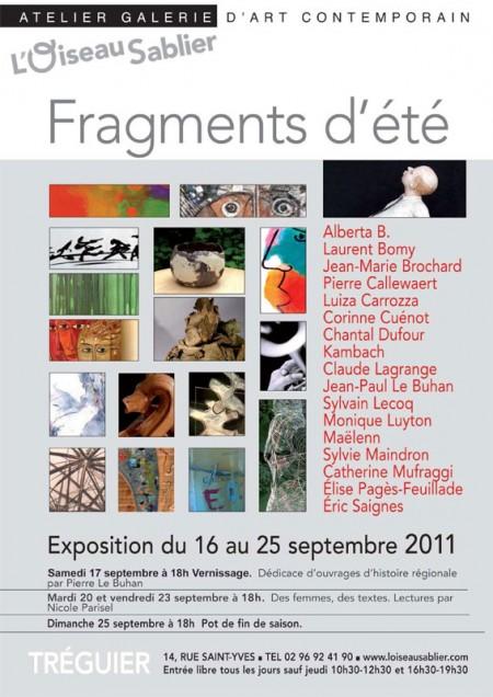 exposition de tous les artistes de l'été 2011 à L'Oiseau Sablier