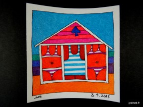 cabine de bain pic bleu