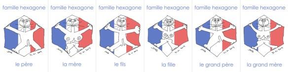 famille hexagone