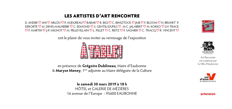 A Eaubonne les artistes de l association Art rencontre se mettent A table