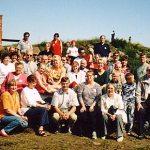 Ahvenanmaan retkeläiset yhteiskuvassa kesäkuussa 1998.