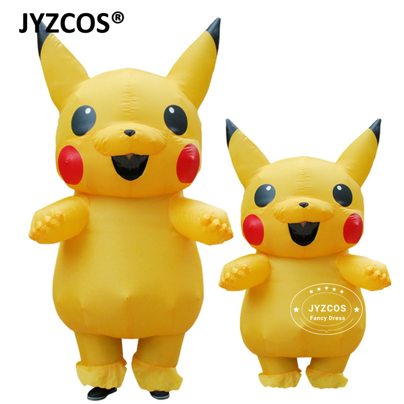 JYZCOS Inflatable Pikachu Mascot Cosplay Pokemon Costume halloween Fancy Dress for kids Girls ...